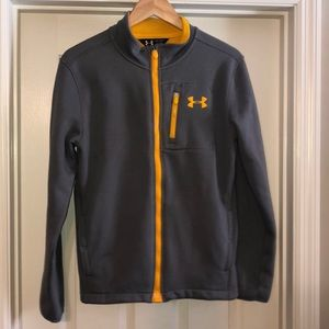 Boys Under Armour zip up fleece jacket YXL
